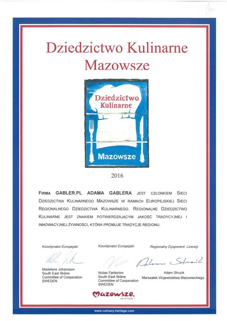 Dziedzictwo Kulinarne Mazowsza